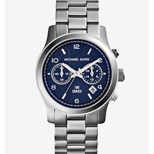 MK Stop World Hunger Silver Tone Watch